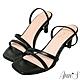 Ann'S重塑氣質-簡約細帶後拉帶細跟方頭涼鞋-黑 product thumbnail 1