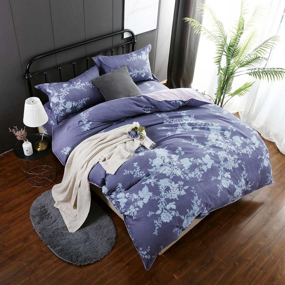 夢工場 芳草春空60支紗長絨棉床包兩用被組-加大