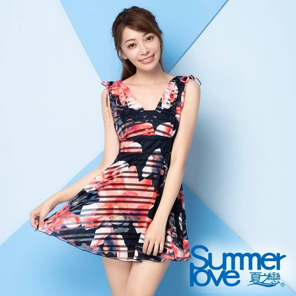 夏之戀SUMMER LOVE大女連身帶裙泳衣E20711