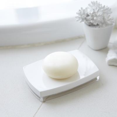 日本【YAMAZAKI】LUXS晶透肥皂架-白