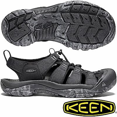 KEEN 1020285黑 NewPort H2 男戶外護趾涼鞋