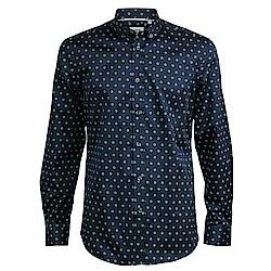 CR7-雙扣領經典印花襯衫-深藍(8711-72100-49)