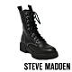 STEVE MADDEN-KANYON 個性款 經典綁帶厚底馬汀靴-黑色 product thumbnail 1