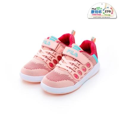 FILA KIDS 大童韓系運動鞋-粉桃 3-C805T-525