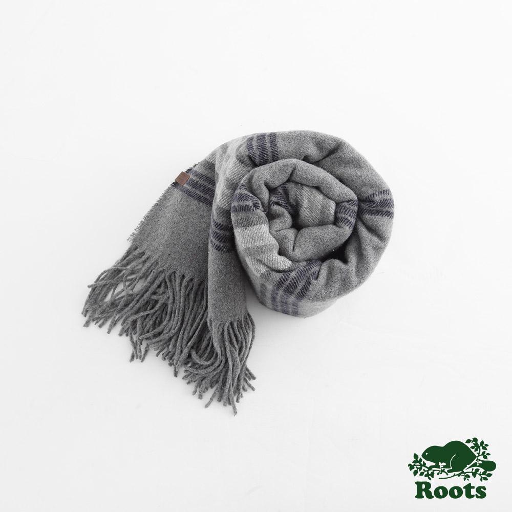 Roots-配件- 艾爾克混羊毛圍巾 - 灰色