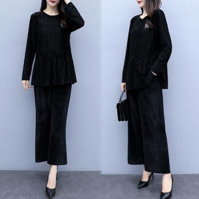 【韓國K.W.】清新印象修長身型時尚套裝-2色