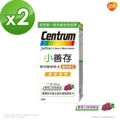 【小善存】綜合維他命+C 葡萄口味甜嚼錠 (60錠X2盒)