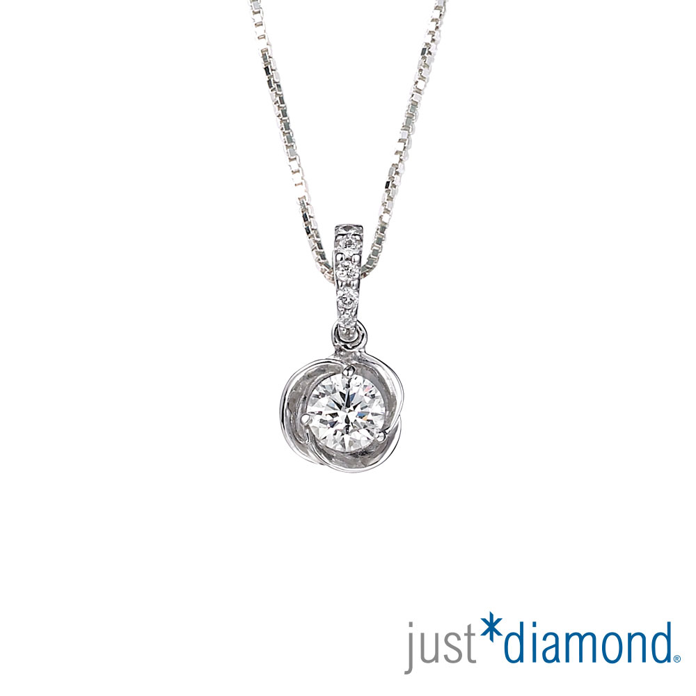Just Diamond GIA30分18K金鑽石墜子-薔薇之吻