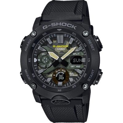 CASIO卡西歐 G-SHOCK軍事迷彩風格電子錶 (GA-2000SU-1A)