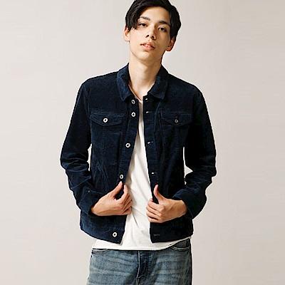 燈芯絨外套牛仔夾克短版素色(8色) ZIP日本男裝