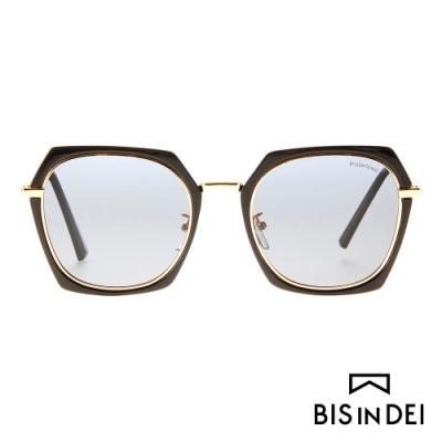 BIS IN DEI 不低調個性多角框太陽眼鏡-黑