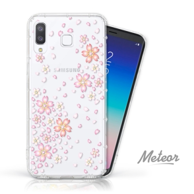 Meteor Samsung Galaxy A8 Star 奧地利水鑽殼 - 櫻花