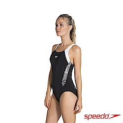 SPEEDO 女 運動連身泳裝Boom Splice MB 黑/白