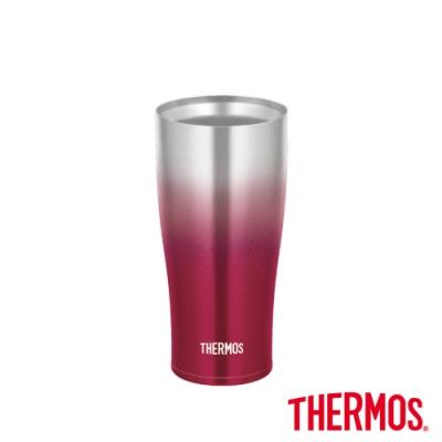 THERMOS膳魔師不鏽鋼真空冰沁杯0.42L(JDE-420C)-紅色系