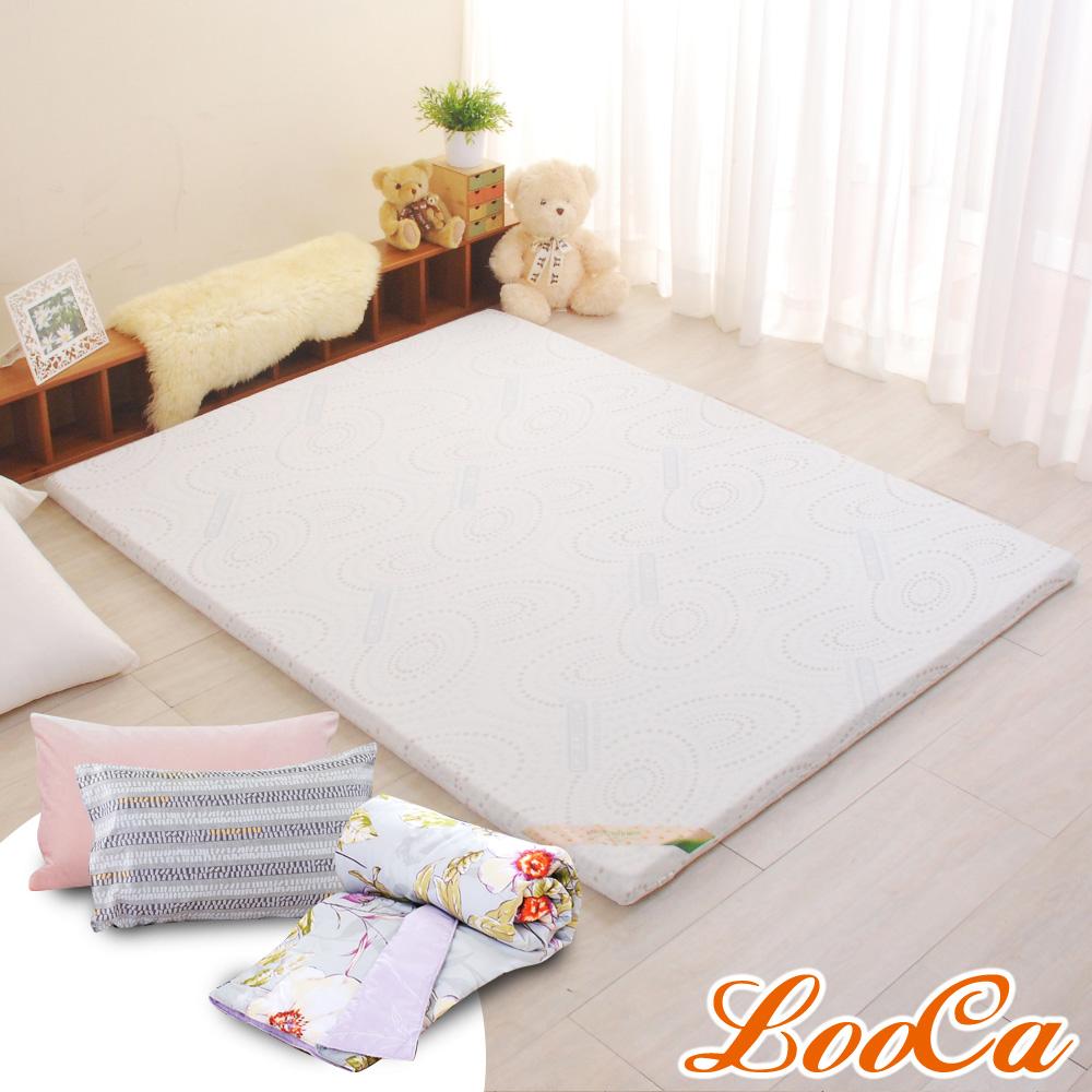 (母親節特惠組)LooCa 德國銀離子抗菌5cm乳膠床墊-加大6尺 @ Y!購物