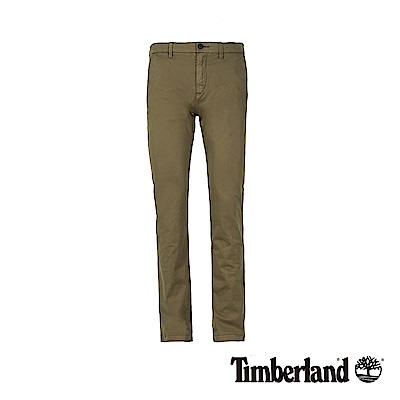 Timberland 男款橄欖綠彈力修身卡其褲|A1V6Y