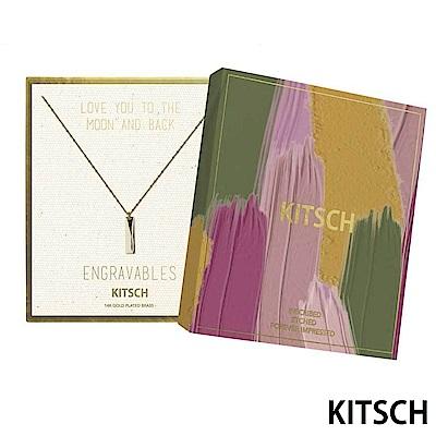 KITSCH 美國加州時尚品牌 簡約長條14K鍍金墜飾項鍊