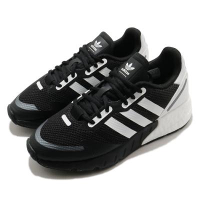 adidas 休閒鞋 ZX 1K Boost 男女鞋 愛迪達 三葉草 基本款 緩震 情侶鞋 黑 白 FX6515