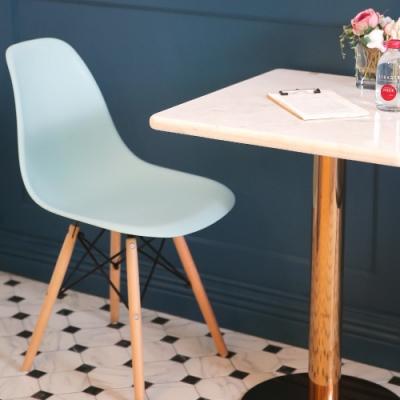 樂嫚妮 北歐復刻餐椅/椅子/休閒椅/辦公椅-天空藍