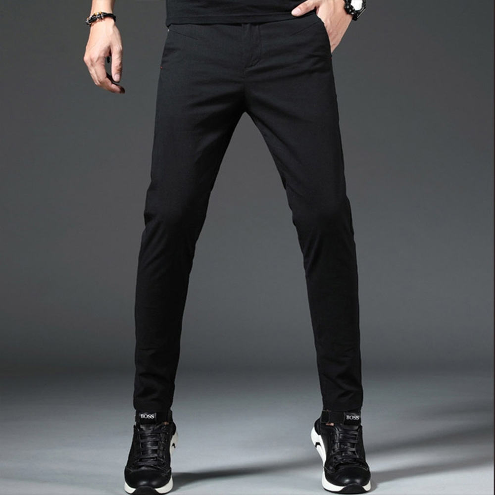 【KISSDIAMOND】英倫帥氣修身直筒休閒褲(KD-8118)