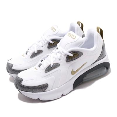 Nike 休閒鞋 Air Max 200 運動 女鞋 海外限定 氣墊 避震 復古 大童 白 灰 CQ4009100
