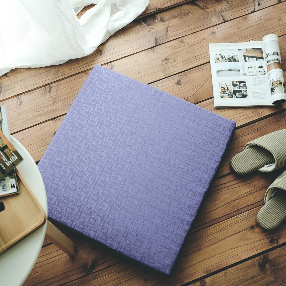 絲薇諾 MIT太空記憶坐墊-方格紫 54×56cm