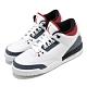 Nike 籃球鞋 Air Jordan 3 Retro 女鞋 經典款 喬丹三代 皮革 穿搭 大童 白 黑 CZ6634100 product thumbnail 1