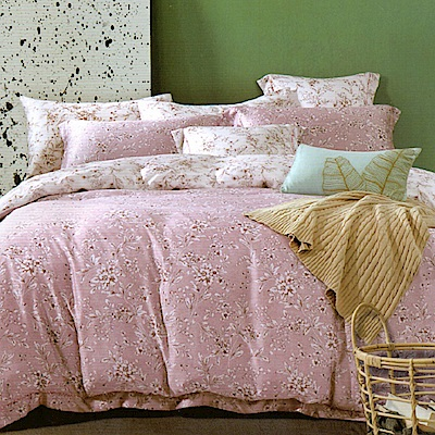 Saint Rose 墨竹 加大100%純天絲兩用被套床包四件組