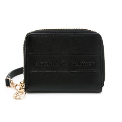 Arnold Palmer - ㄇ拉零錢包-附手挽帶 LASS系列 - 黑色