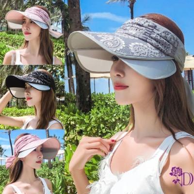 Decoy 花漾蕾絲 伸縮帽沿鏤空防曬遮陽帽 4色可選