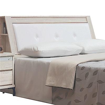 綠活居 馬波亞時尚5尺皮革雙人床頭箱-153x30x104cm免組