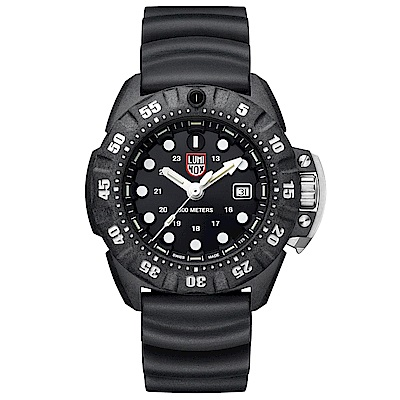 LUMINOX 雷明時Scott Cassell Deep Dive 專業深潛系列手錶-黑