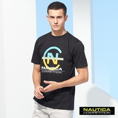 Nautica COMPETITION男裝漸層LOGO短袖T恤-黑