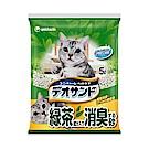 日本Unicharm消臭大師 尿尿後消臭貓砂-綠茶香 (5Lx4包/箱)