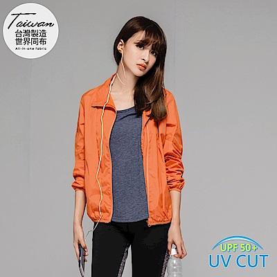 透氣感防風防潑水抗UV運動外套/風衣.5色-OB大尺碼