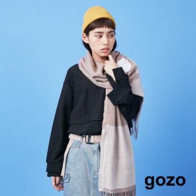 gozo 趣味開關假兩件上衣(二色)