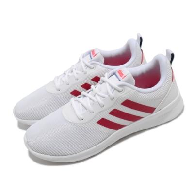 adidas 慢跑鞋 QT Racer 2 女鞋 愛迪達 路跑 緩震 透氣 球鞋穿搭 白 紅 FW7280