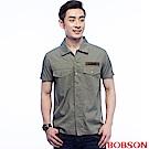 BOBSON 男款軍裝式襯衫