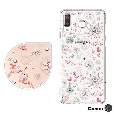 Corner4 Samsung Galaxy A8 Star 奧地利彩鑽防摔手機...