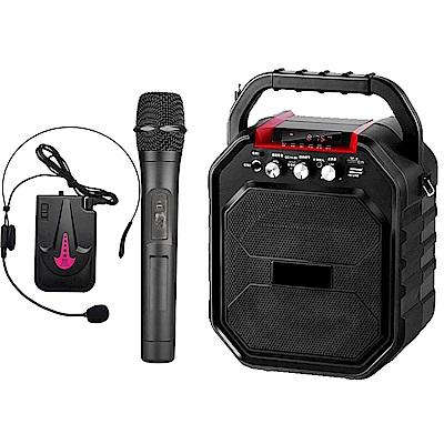 大聲公樂樂型無線式多功能行動音箱/喇叭 (手持+耳麥)組