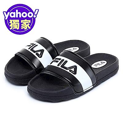 FILA KIDS 大童CPU運動拖鞋-黑白 3-S419V-010