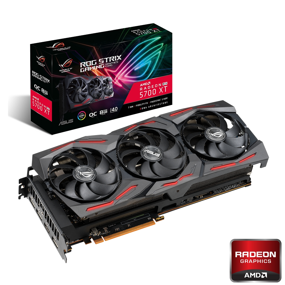 ASUS ROG Strix Radeon RX5700 XT O8G GAMING顯示卡