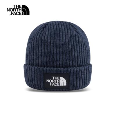 The North Face北面男女款藍色保暖毛帽|3FJWH2G