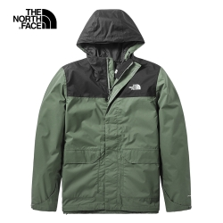 The North Face北面男款綠色防水透氣戶外衝鋒衣|497J4NX