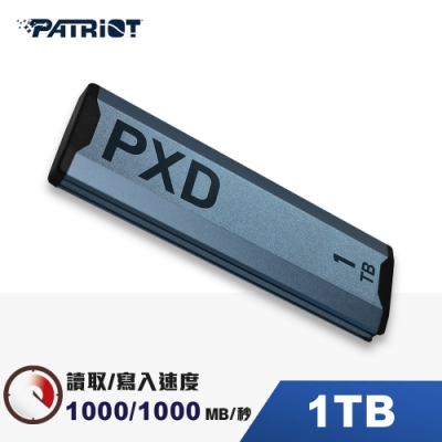 (6/20前再送3%超贈點)Patriot美商博帝 PXD m.2 PCIe Type-C 1TB 外接式SSD固態硬碟