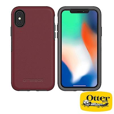OtterBox iPhoneX炫彩幾何系列保護殼-醇紅