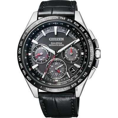 CITIZEN 星辰 Eco-Drive 鈦 光動能GPS衛星對時錶-黑/43mm CC9015-03E
