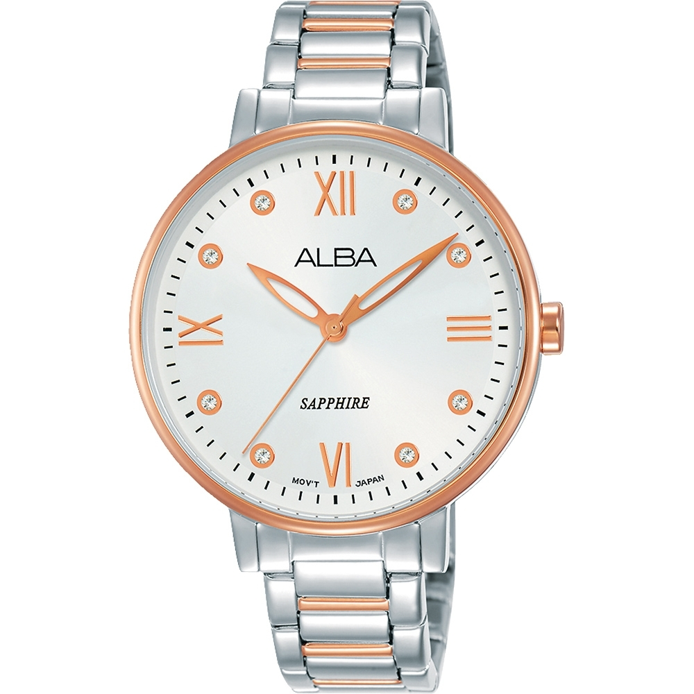 ALBA 雅柏 甜美風格時尚女錶(AH7T40X1)-雙色/36mm