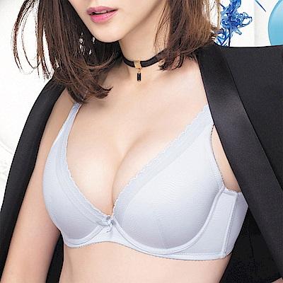 莎薇-深V粉水好素配-B-D罩杯內衣-銀河灰