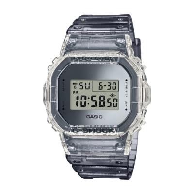 CASIO卡西歐 限量G-SHOCK 透明冰塊腕錶DW-5600SK-1